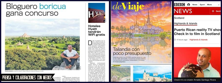 Colaboraciones de Arnaldo Santiago Rivera con los medios. Bloguero de Puerto Rico.